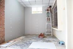 人水泥墙壁 免版税图库摄影