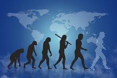 人类演变/成长&进展 免版税库存照片