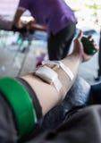 人们给献血 库存照片