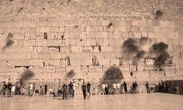 人们祈祷西部墙壁 库存照片
