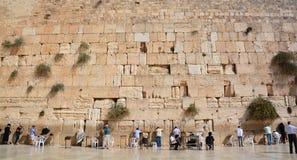 人们祈祷西部墙壁 免版税图库摄影