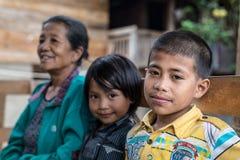 人画象从塔娜Toraja的 免版税库存照片