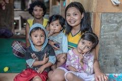 人画象从塔娜Toraja的 免版税库存图片
