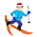 人滑雪者 库存照片