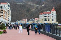 人滑雪胜地 库存照片