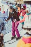 人滑雪 库存照片