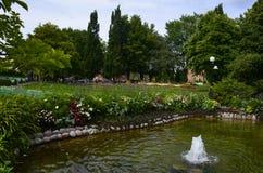 人` s公园在卡特琳娜霍尔姆瑞典 图库摄影