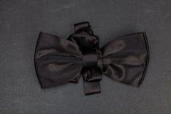 人` s黑色蝶形领结 库存照片