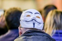 人Fawkes屏蔽 免版税库存图片