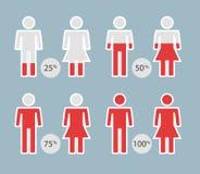 人infographic或介绍的百分比象-导航例证 库存照片