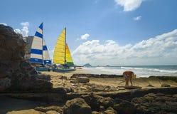 人mazatlan墨西哥挑选海运轰击  免版税图库摄影