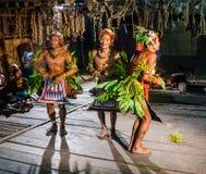 人Mentawai部落舞蹈礼节舞 图库摄影