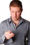 人MP3播放器 图库摄影