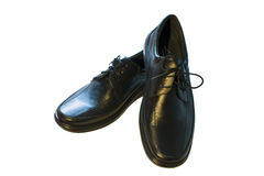 黑人s鞋子 免版税库存照片