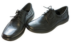 黑人s鞋子 免版税库存图片