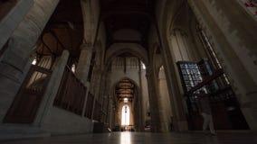 人Timelapse在圣劳伦斯教会,鹿特丹里 股票录像