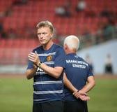 人Utd大卫Moyes主教练。 免版税库存图片