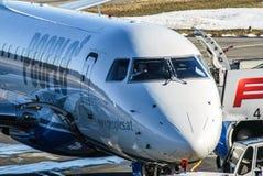 人Viennaline E170在腓特烈港 免版税库存图片