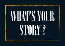 什么是您的在海报葡萄酒印刷术卡片上写字的故事 皇族释放例证