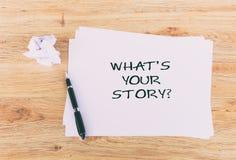 什么是您的故事生活行情 图库摄影