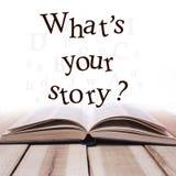 什么是您的故事,诱导激动人心的行情 库存图片