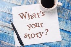 什么是您的故事,诱导激动人心的行情 免版税库存图片