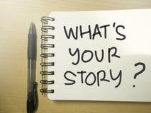 什么是您的故事,诱导激动人心的行情 库存照片