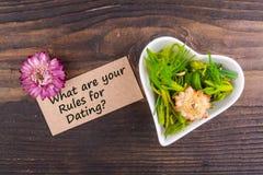什么是您的约会的规则 免版税库存图片