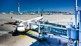 仁川国际机场ICN -搭乘 免版税库存图片