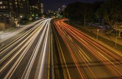 仅在波士顿在晚上 免版税图库摄影