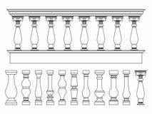 仅楼梯栏杆概述 皇族释放例证
