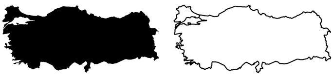 仅简单的锋利的角落映射-土尔其共和国传染媒介dra 库存例证