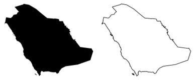 仅简单的锋利的角落映射-沙特阿拉伯王国KSA 皇族释放例证