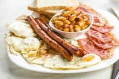 仅英式早餐与一杯茶 图库摄影