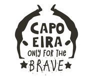 仅Capoeira勇敢的海报的 图库摄影