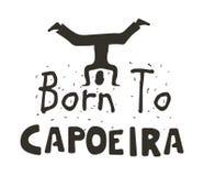 仅Capoeira勇敢的海报的 免版税库存图片