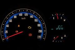 今天汽车的测量仪米。 免版税图库摄影