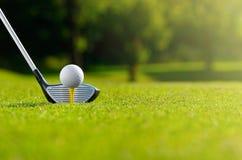今天让` s高尔夫球 库存图片