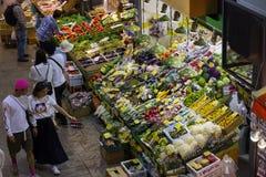 今池-日本, 2017年6月10日:新鲜的未加工的蔬菜品种  免版税库存照片