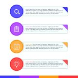 介绍企业infographic模板传染媒介集合 免版税库存照片