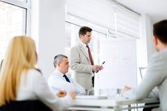 介绍和训练在营业所 免版税库存图片