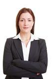 介绍妇女年轻人的她自己 免版税库存图片
