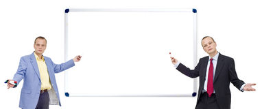 介绍whiteboard 免版税图库摄影