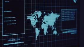 仍然做对数据服务器和银行` s帐户的年轻黑客攻击秘密信用卡号码 工作在科学幻想小说 股票录像