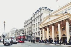 仍然剧院皇家Haymarket,一个伦敦西区剧院和在使用中最第三老的伦敦剧场自1720以来 免版税图库摄影