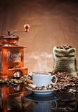 仍然咖啡生活 免版税库存图片