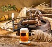 仍然啤酒生活 库存照片