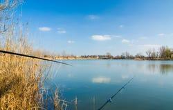 仍然捕鱼生活 免版税库存照片