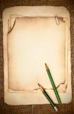 仍然生活老纸张 免版税库存照片