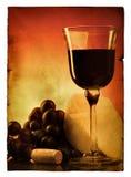 仍然生活poscard葡萄酒 库存照片